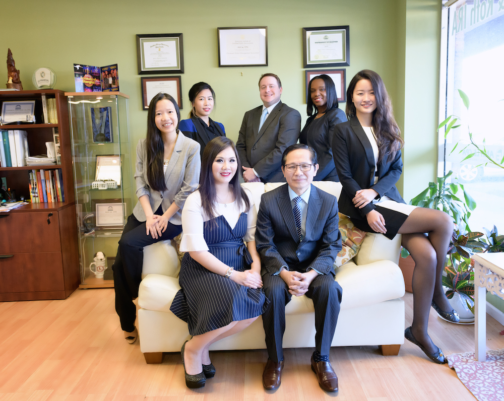 team of cpa and tax preparers